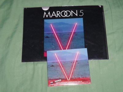 全新未拆-魔力紅Maroon 5-第五輯V普通盤+預購禮(Maroon 5資料夾)-不要懷疑女主唱關史蒂芬妮合唱