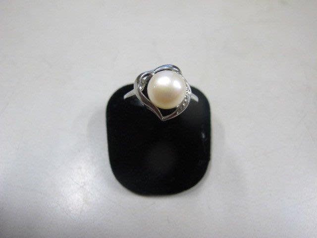 二手舖 NO.3975 天然珍珠 造型戒指 首飾飾品 全新