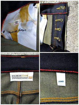 美國製手工限量Raleigh Denim JONES Original Selvage Raw Levis傳奇打版師打版