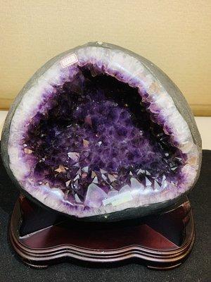 巴西高等級巨無霸紫鈦晶圓洞(能量強)