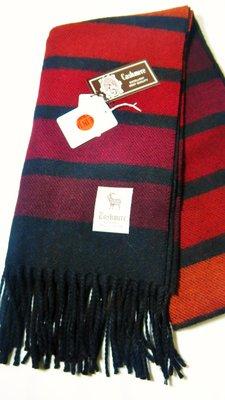 Debbies World 『日本製100%純羊毛圍巾,質感超優』-深紅漸層