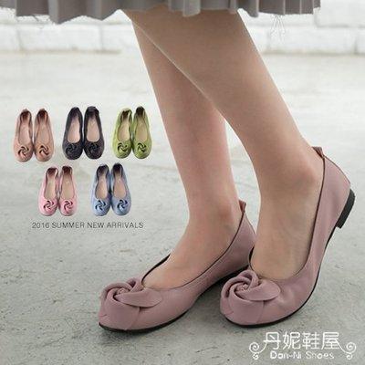 早春 娃娃鞋 日式玫瑰 真皮束口 芭蕾舞鞋 台灣手工鞋 丹妮鞋屋