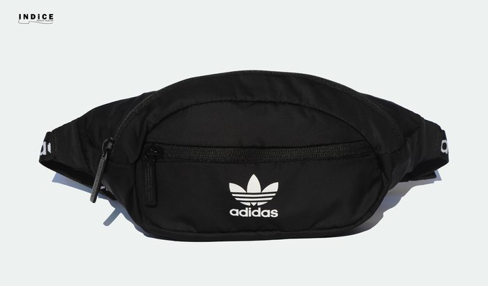 INDiCE↗ adidas Originals National Waist Bag CK6590 三葉草肩腰包 黑