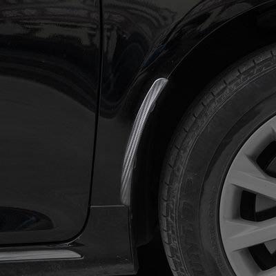 【汽車改裝通用擋泥板-碳纖彈性體-長25cm-2片/套-2套/組】輪眉防撞條防撞膠裝飾條-527008