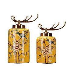 〖洋碼頭〗歐式擺件客廳玄關櫃擺件美式鄉村家居裝飾品樣板房擺件擺設花鳥罐 ysh266