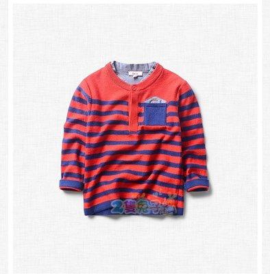 。2隻兔子優質童裝。 男童 羊毛假兩件針織衫 2-10Y(E0192) 春季款