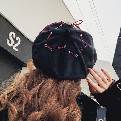 貝雷帽 女冬日系百搭甜美可愛韓版潮純色畫家帽 CC5283