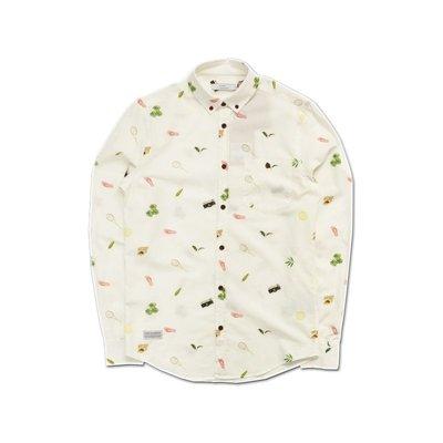 Freaky House-法國OLOW Passing Shot網球穿越球長袖花襯衫米白色葡萄牙製