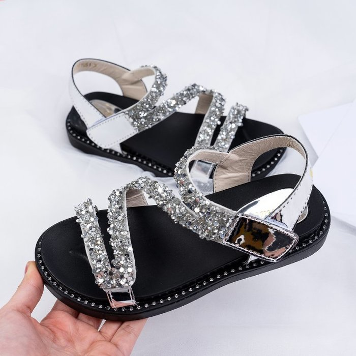 女童涼鞋夏季2019新款時尚韓版小女孩鞋子軟底兒童鞋中大童公主鞋一品閣