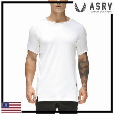 瘋狂金剛▸ 白 ASRV Supima® TW-1430 Mesh Tee 抗起毛球超輕吸濕排汗短袖T恤 運動 健身