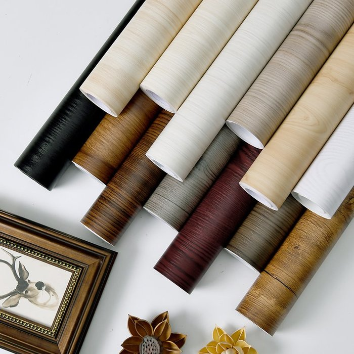 SX千貨鋪-木紋墻壁紙衣柜書桌子臺面保護舊家具翻新神器門貼膜改造防水貼紙