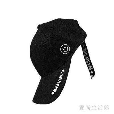 棒球帽男 新款原宿長飄帶男女字母嘻哈鴨舌帽潮TL244