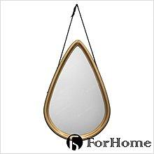 [ ForHome ] CD-0358 工業風 復古 水滴皮革掛鏡 陳列 拍攝道具 店鋪裝飾品 擺設 藝術