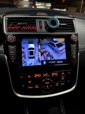 [[娜娜汽車]]日產 i tiida 專用 3D環景系統 環景行車紀錄器 360度環景輔助系統3D版 支援原廠主機