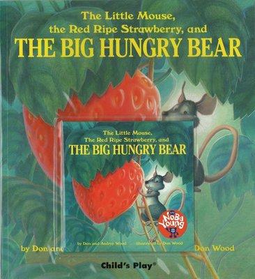 *小貝比的家* 廖彩杏~~THE LITTLE MOUSE,THE RED RIPE STRAWBERRY,AND BIG HUNGRY BEAR [書+CD]