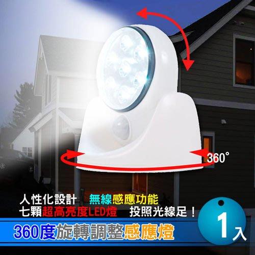 360度旋轉調整感應燈特價169元 ,7顆共17.5流明超亮度LED壁燈 照明燈 夜燈~最愛網※10
