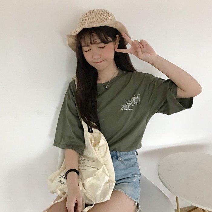 韓版寬鬆短袖T恤素描印花顯瘦百搭率性(任選1件)_☆優購好SoGood☆