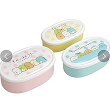 (現貨)日本製 聚丙烯 總共860ml (3合1) 椭圓形餐盒 食物盒 SAN-X Sumikko gurashi 角落生物 日本直送 全新品