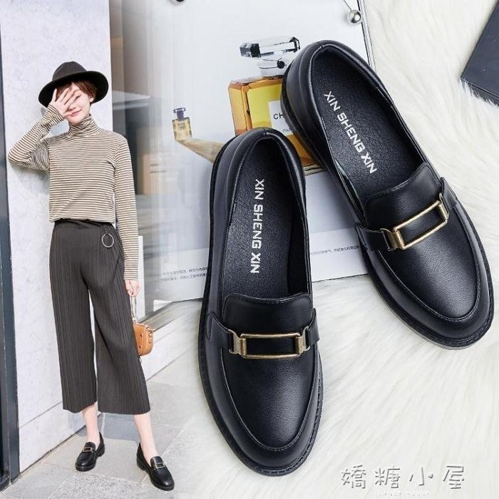 BELOCO 小皮鞋女學生韓版百搭ULZZANG秋季2018新款網BE655