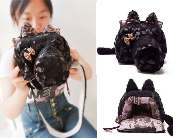 5Cgo【鴿樓】會員有優惠 15152797578 單反包相機包 單反微單 可愛時尚單反相機包黑貓 佳能尼康松下