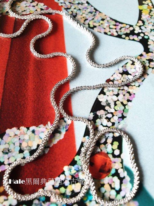 黑爾典藏西洋古董 ~純銀 925銀 星光閃閃滿天星純銀項鍊 ~美國品牌時尚走秀雜誌