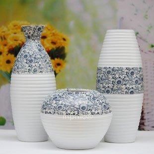 INPHIC-歐式家居裝飾品現代工藝品擺飾陶藝三件套陶瓷花瓶擺設品