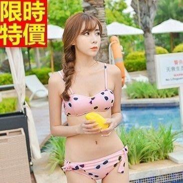 比基尼 泳衣-韓版時尚眼鏡印花兩件式女泳裝3色67h56[獨家進口][米蘭精品]