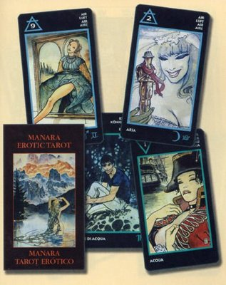 【牌的世界】情慾藝術塔羅牌(迷你版) The Manara Erotic tarot(中英文說明)