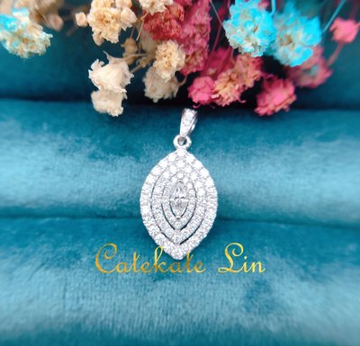 三層馬眼鑽石墜子墜飾(鑽石16分+72分=88分)附保卡、禮盒、提袋。