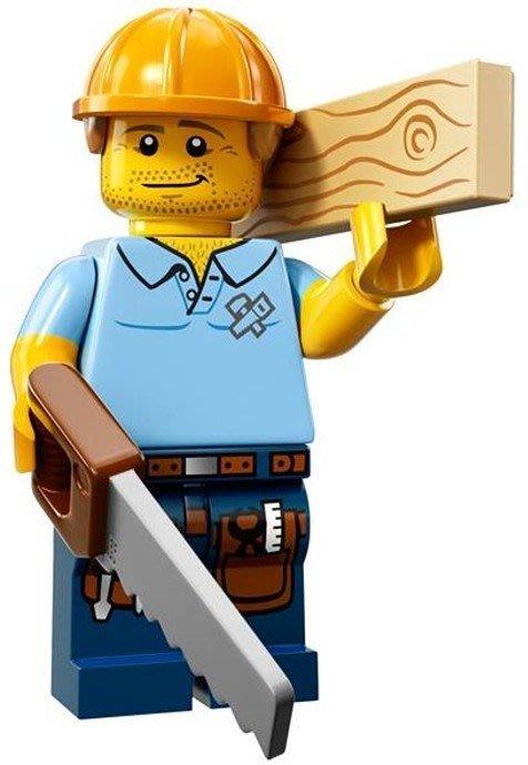 【LEGO 樂高】益智玩具 積木/ Minifigures人偶系列: 13代人偶包 71008   木匠+鋸子+木頭