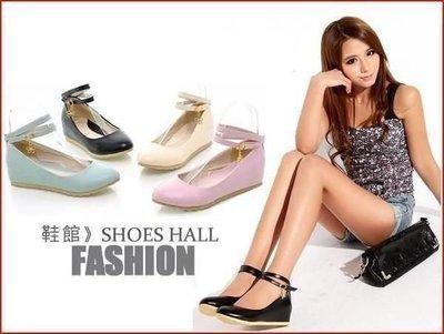 包鞋*鞋館Shoes hall*【A3601】休閒百搭素面雙扣環內增高楔型包鞋~4色~