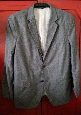 【BANANA REPUBLIC】冷灰色細圓點西裝外套 46L