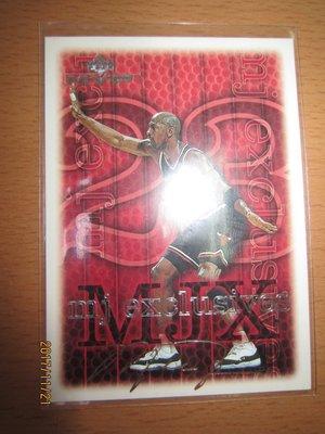 網拍讀賣~99/00~Michael Jordan~超級球星~籃球之神~喬丹~mj exclusives~印刷銀版簽名~