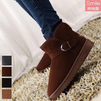 【V8978】SMILE-百搭時尚.冬季防滑保暖短筒雪地平底短靴
