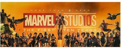 【貼貼屋】MARVEL 漫威10週年 超級英雄大集合 橫版 鋼鐵人 美國隊長 復古海報 牛皮紙海報 店面裝飾 壁貼