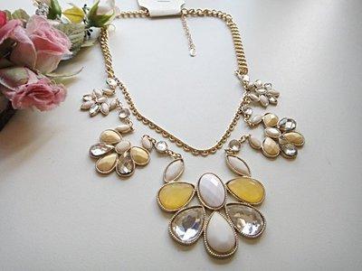 ~~╭*Quapa Girl*╭歐美Noblesse 時尚璀璨水滴寶石項鍊~~129元