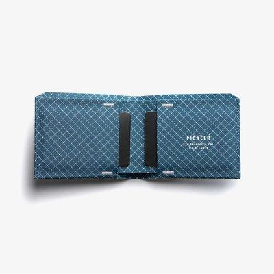 [SIMNA BIKE] PIONEER THE FLYFOLD 防水極簡皮夾/錢包 - 藍菱線|適合戶外運動使用