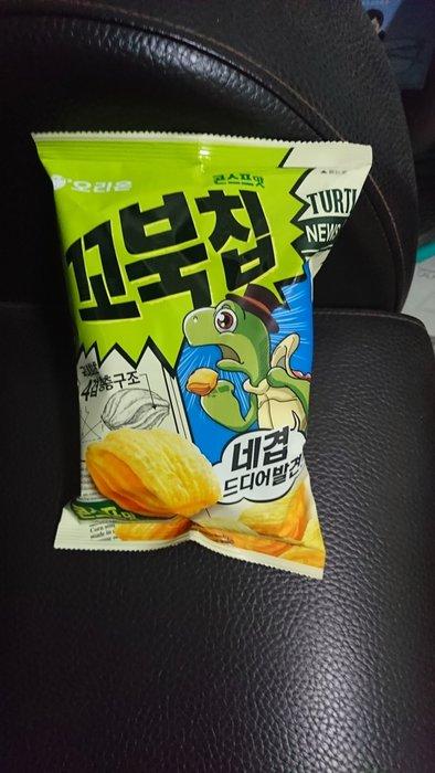 ~魔寶窩~韓國好麗友ORION烏龜餅玉米濃湯口味,80克