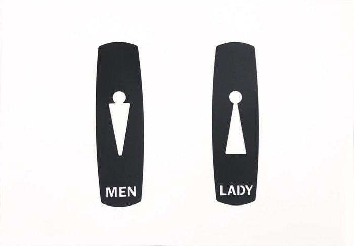.黑設計.雍容大度不鏽鋼廁所標示牌,滿足空間陳設格調需求,化妝室掛牌、衛生間吊牌、洗手間標示牌;指示牌,304不銹鋼製作