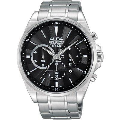 ALBA 三眼計時腕錶(黑/ 44mm) VD53-X255D-AT3A67X1 新北市