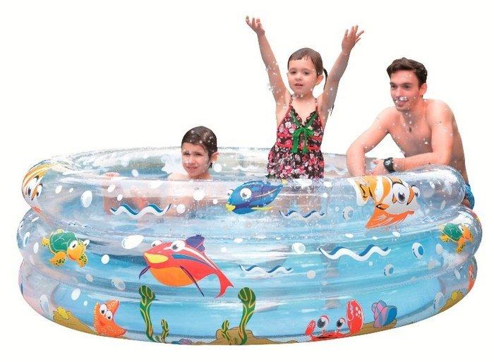 ☆夯健身夯休閒☆090067三層海洋彩繪泳池170cm大型 親子大型圓型遊戲池 游泳池(NG001-004)150
