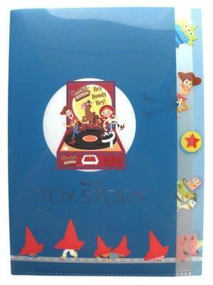 【卡漫迷】 玩具總動員 五層 資料夾 黑膠唱機 ㊣版 L字型 L夾 A4 文件夾 檔案夾 Toy Story 迪士尼