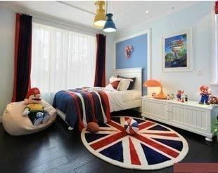 DS北歐家飾§ loft 書房門墊客廳圓形地毯 多款英國國旗 80cm 訂製大尺寸復古美式鄉村潮流設計 室內裝潢房間酒吧