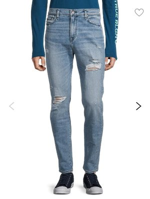 True Religion Distressed Whiskered Jeans