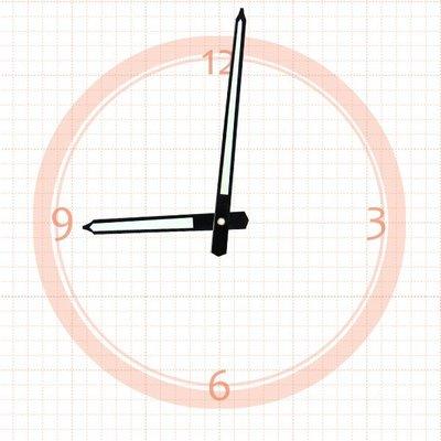 【鐘點站】J116075 分針11.6 公分 / 時針7.5 公分 / 夜光指針 DIY 時鐘 掛鐘 鐘針/ SKP壓針