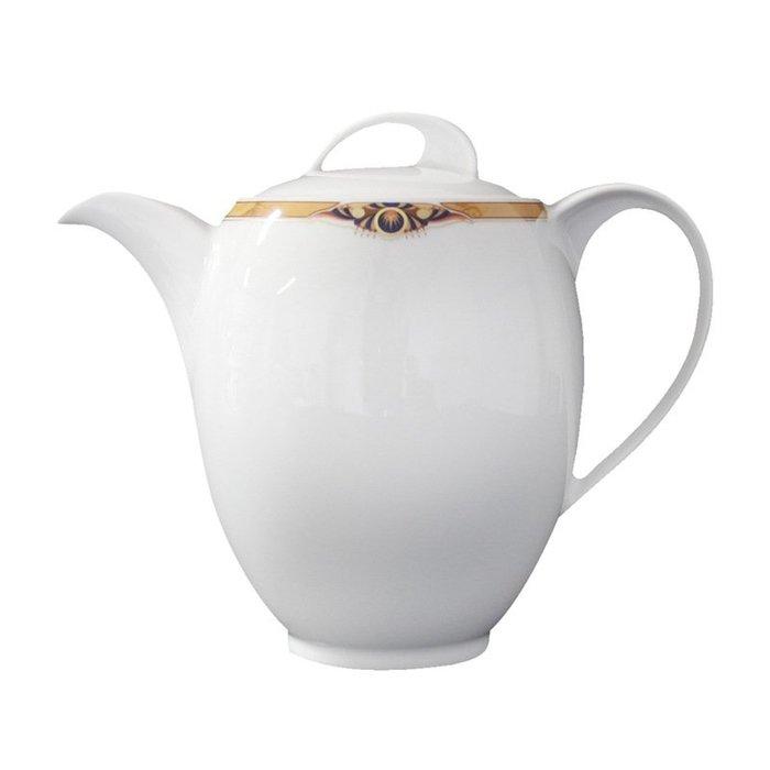 〖洋碼頭〗德國原產Eschenbach金邊玉眼咖啡壺歐式陶瓷咖啡壺茶壺水壺 L3165