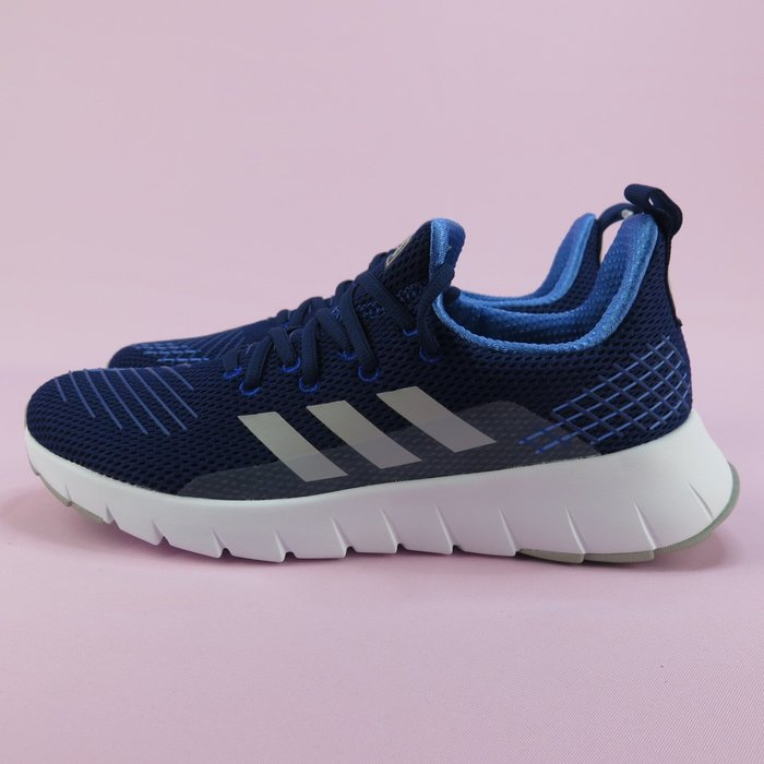 【iSport愛運動】adidas ASWEEGO 運動休閒鞋 正貨 F35444 藍 男款