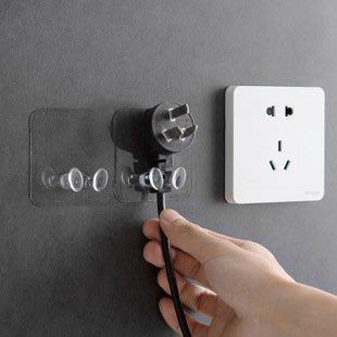【拉拉Lala's shop】透明插頭壁掛支架 廚房牆壁強力粘膠掛鉤創意插座粘鉤