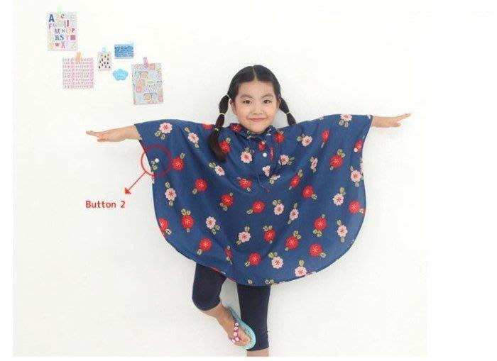 【自在坊】雨衣 雨具 兒童 披風式雨衣 斗篷雨具 防水 輕便 戶外必備 韓國時尚櫻桃雨披 加厚休閒款