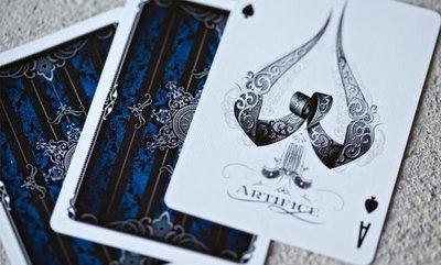 【USPCC撲克】撲克牌 Artifice V2 藍色(白邊)